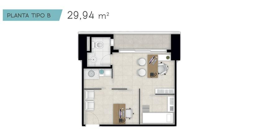 Planta 29,94 m²